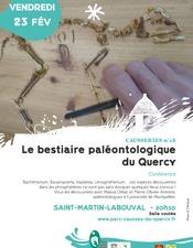 Le bestiaire paléontologique du Quercy