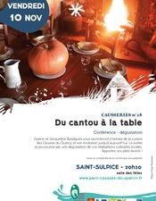 Conférence - dégustation : Du cantou à la table