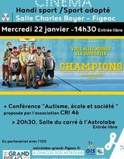 """Ciné-débat """"Champions"""""""